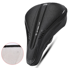цена на Waterproof PVC Bicycle Saddle Breathable Soft Mountain Bike Cushion Silicone Saddle Bicycle Accessories Front Seat Cushion