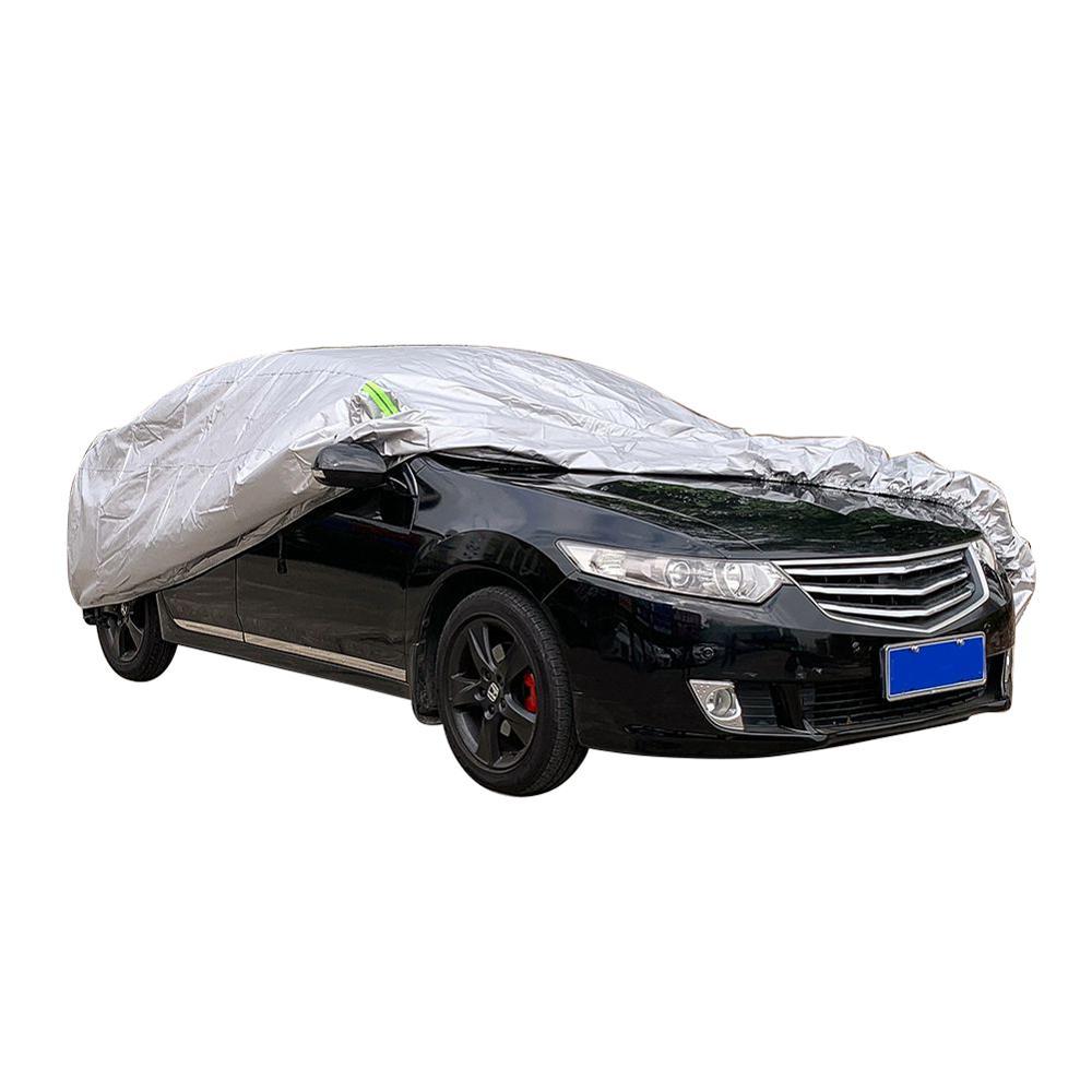 Pleine bâches de voiture argent imperméable à l'eau coupe-vent anti-poussière extérieure bâche de voiture Protection véhicule Auto couvre accessoires