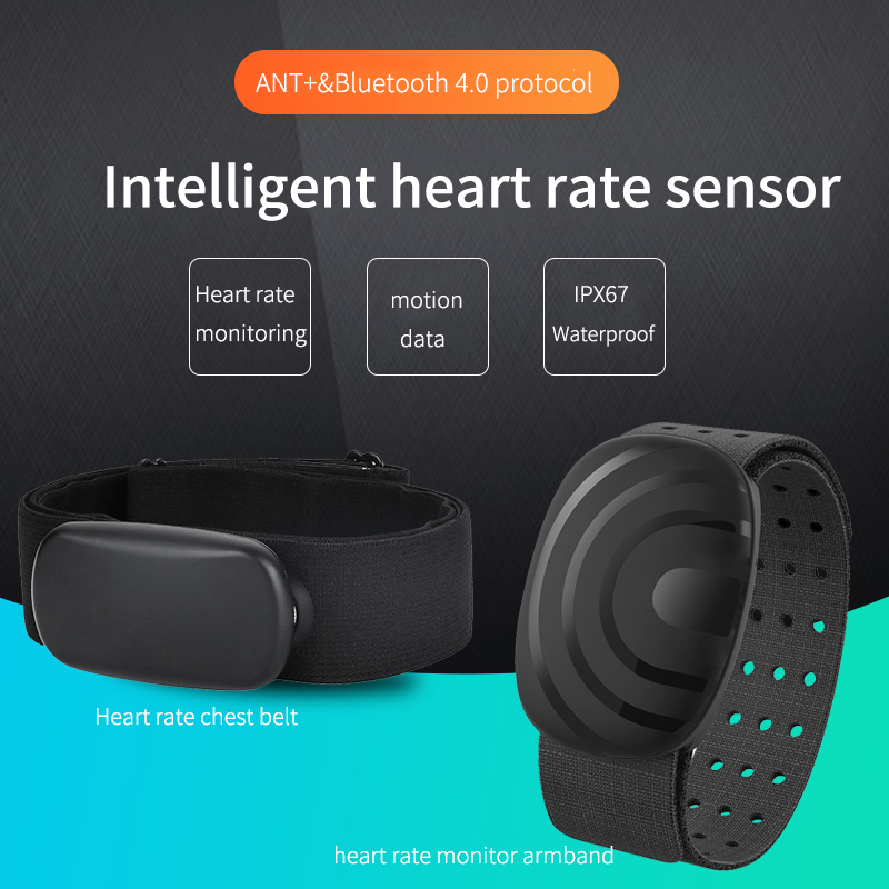 ThinkRiderANT+bluetooth Heart Rate Monitor Chest Strap Heart Rate Monitor Armbandcompatible Wahoo Polar Garmin Device Connection