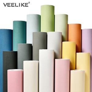 3 Meters Matte Solid Color Wallpaper Furniture Cabinet Renovation Tile Stickers Bedroom Vinyl Film DIY Self Adhesive Room Decor
