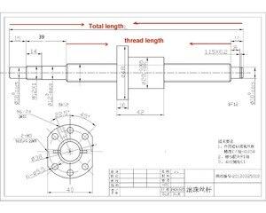 Image 5 - UKR เรือ 3 ชุด ballscrew SFU1605 350/650/1050 มม.+ 3 ชุด BK/BF12 + 3 ชุด SBR20 Linear ราง + 3 Couplers สำหรับ CNC Router Milling