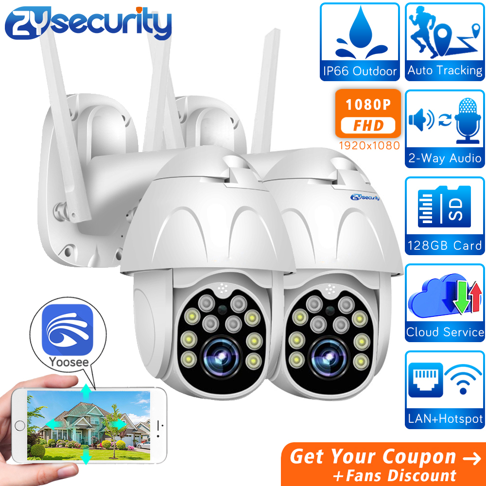 1080p WiFi PTZ Camera Outdoor Wireless Home Security Camera Speed Dome SD Card P2P Cloud CCTV Video Surveillance Camera Yoosee