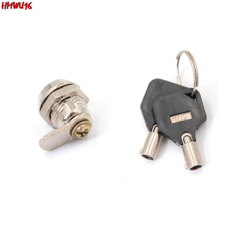 Mini serrure à came en alliage de Zinc, avec clés, pour boîte à outils, tiroir, armoire, équipement de sécurité, pièces/ensemble