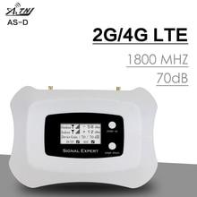Inteligentny wyświetlacz LCD GSM 4G 1800 Repeater sygnału telefonii komórkowej 1800 Mhz 4G LTE wzmacniacz sygnału komórkowego Band 3 wzmacniacz 70dB uzyskać