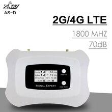 Pantalla LCD inteligente GSM 4G 1800 Repetidor de señal de teléfono móvil 1800 Mhz 4G LTE Amplificador de señal celular Amplificador de banda 3 70dB de ganancia