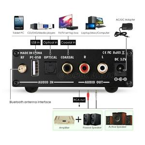 Image 3 - Nobsound Mini Bluetooth 5.0 USB DAC Audio Decoder Stereo HiFi Headphone Amplifier Optical AUX Black/Silver