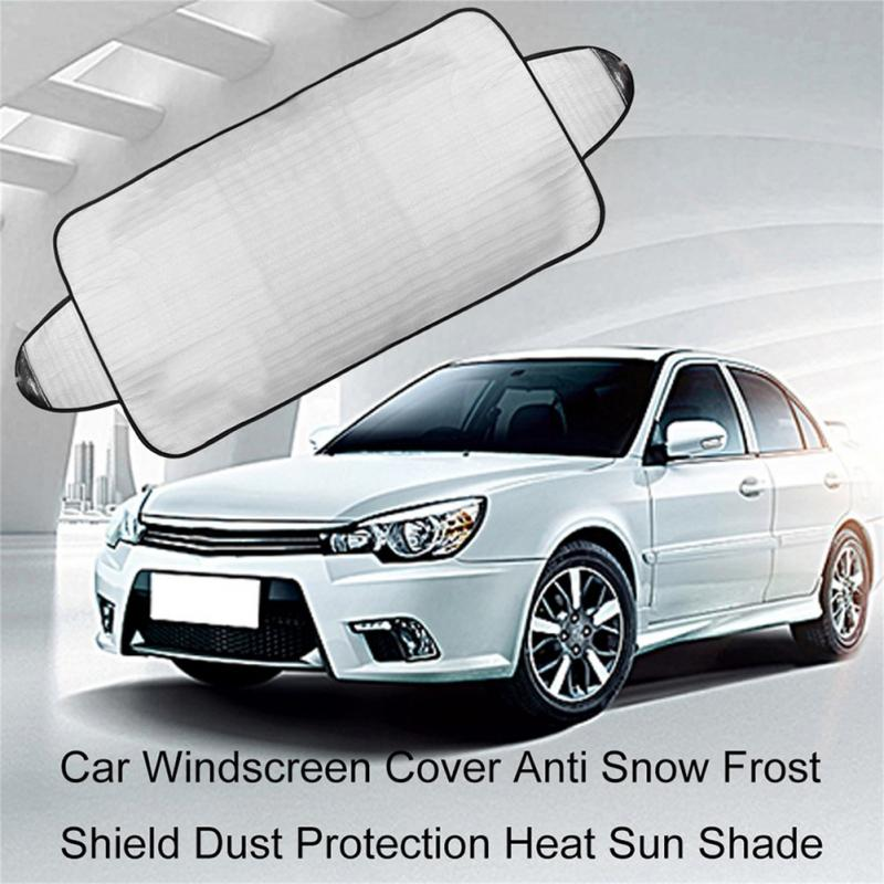 1980*695mm Car Windscreen Cover Heat Sun Shade Anti Snow Frost Ice Shield Dust Protector Universal Winter Car Cover