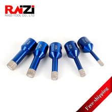 Raizi 5 Pcs Vacuum Brazed Diamond Tile Hole Saw Drill Bits Set Porcelain Ceramic Tile Granite Concrete Core Drill Bit 6-14 mm