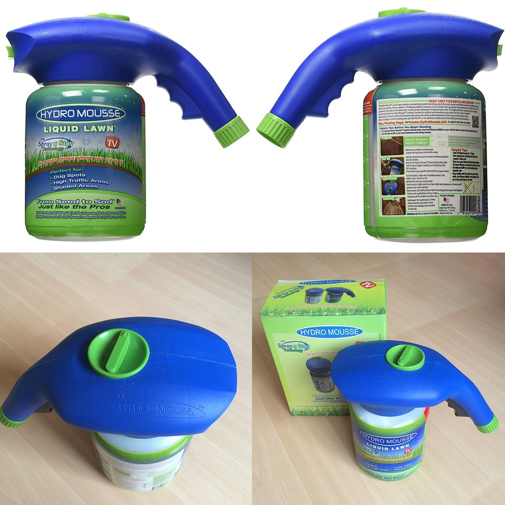 Seed Sprinkler Liquid Lawn System Grass Seed Sprayer Plastic Watering Can Quick And Easy Sprayers Ink Dropshipping-4
