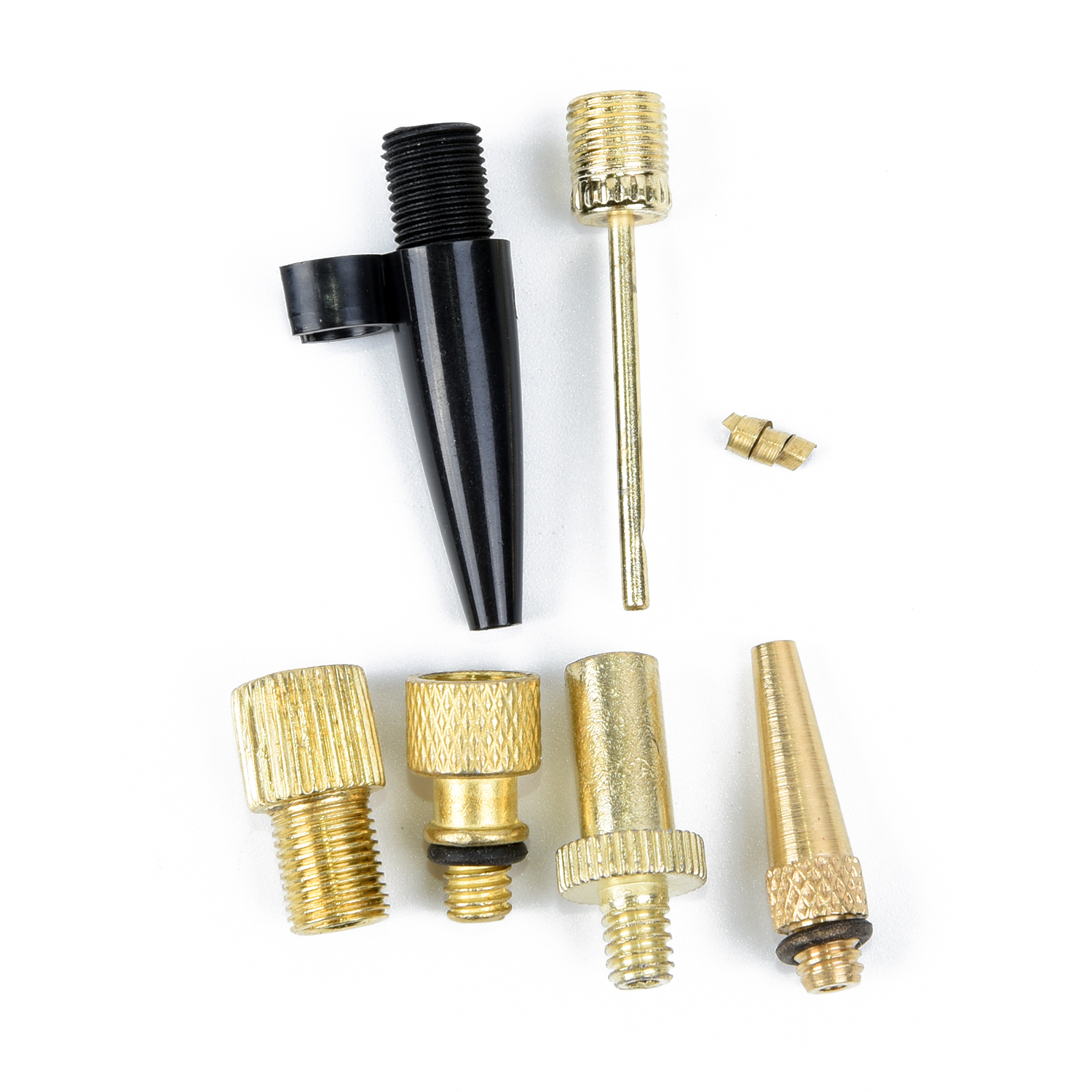 6pcs Needle Nozzle Adapter Inflatable Air Valve Ball Pump For Soccer Bike Tire