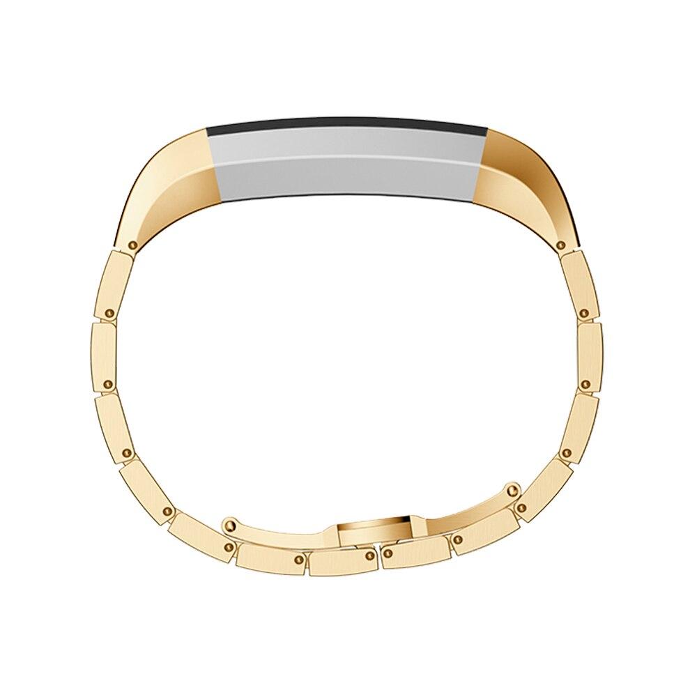 Pulseira de Metal Inoxidável para Fitbit Alta Pulseira Freqüência Coração Inteligente um Grânulo Qualidade Relógio Banda 7 Cores Aço hr
