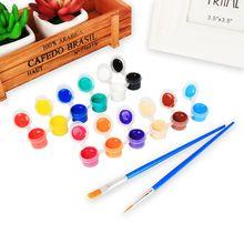 2мл 12 ярких цветов, стирать гуашь для детей школьного палец