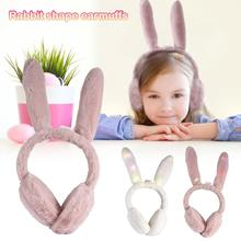 New Fashion Children Plush Earmuff Light Ear Muffs Kids Lovely Winter Warmer Ear Muffs Rabbit Fur Thicken Plush Ear Cover