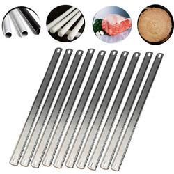 10 sztuk 12 Cal piły do metalu wymiana ostrza 8TPI/24TPI podwójne zęby ostrze grzywny/grube zęby piła ręczna ostrze do cięcia drewna metalu