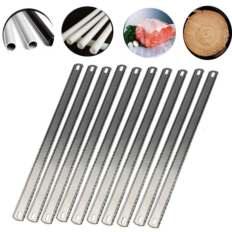 10Pcs 12 Inch Hacksaw Replacement Blades 8TPI/24TPI Double Teeth Blade Fine/Coarse Teeth Hand Saw Blade For Cutting Wood Metal