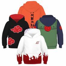 Harajuku Anime Hoodies Boys Kids Naruto Itachi Uchiha Uzumaki 3D Printing Pullover Sweatshirt Hip Hop Japanese Streetwear