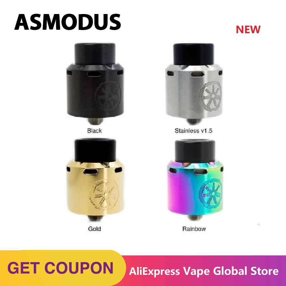 Asmodus Blank RDA Atomizer With 0.2ohm Coil 24mm Leak-proof E-cig Tank With Adjustable Sextuple Top Airflow Slot Vs Zeux X Tank