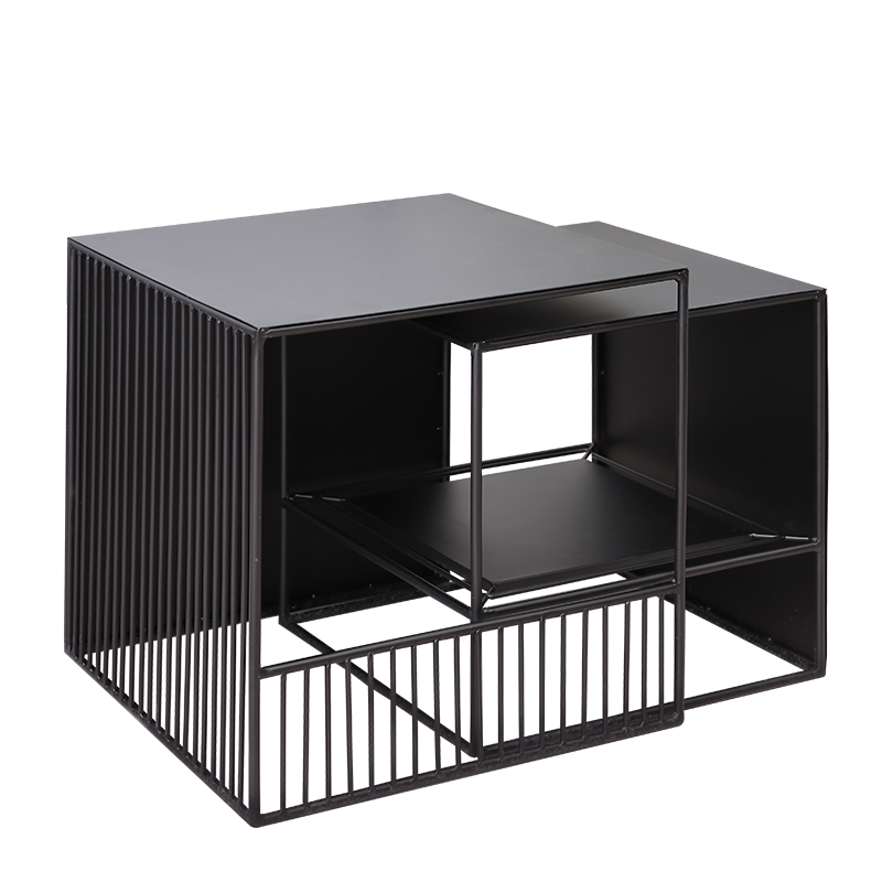 Nordic Simple Modern Coffee Table Home Sofa Corner Table Creative Metal Small Table Side Table Desk Black Livingroom Sofa Side