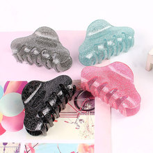 1Pc 8.5cm Glitter Acrylic Large Hair Claw Fashion Women Shiny Barrettes Hair Clips Crab Clamps Hairpin Charm Hair Accessories
