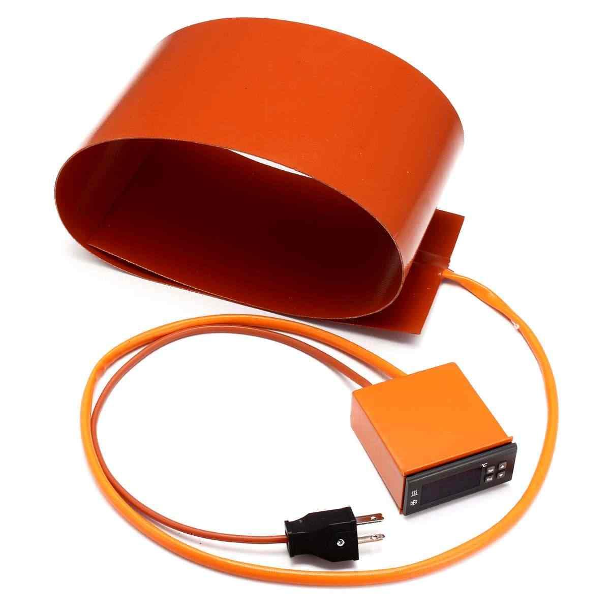 1200 w aquecedor de silicone cobertor térmico guitarra flexão lateral aquecimento + controlador almofadas aquecimento elétrico plug eua 120 v 152mm x 914mm