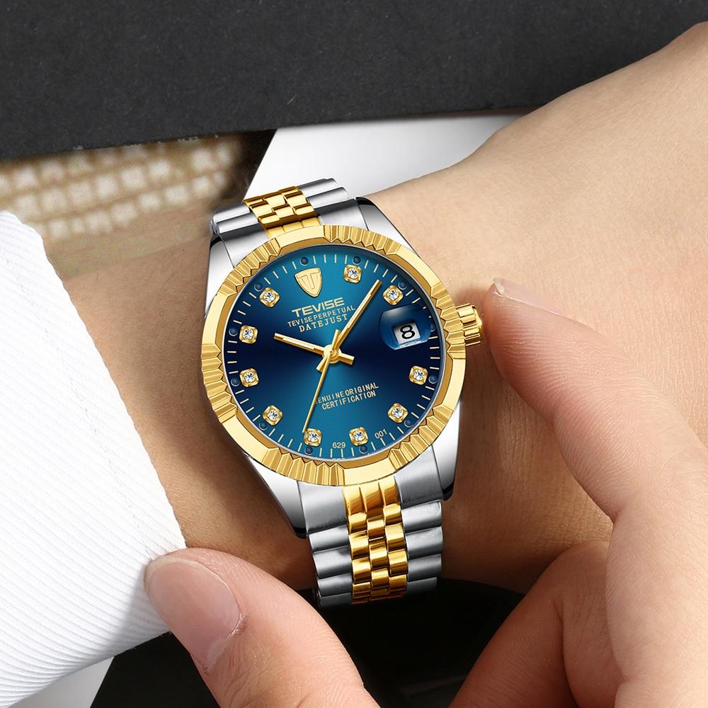Tevise Armbanduhren Steampunk Herren Roman Number Day Watch - Herrenuhren - Foto 6