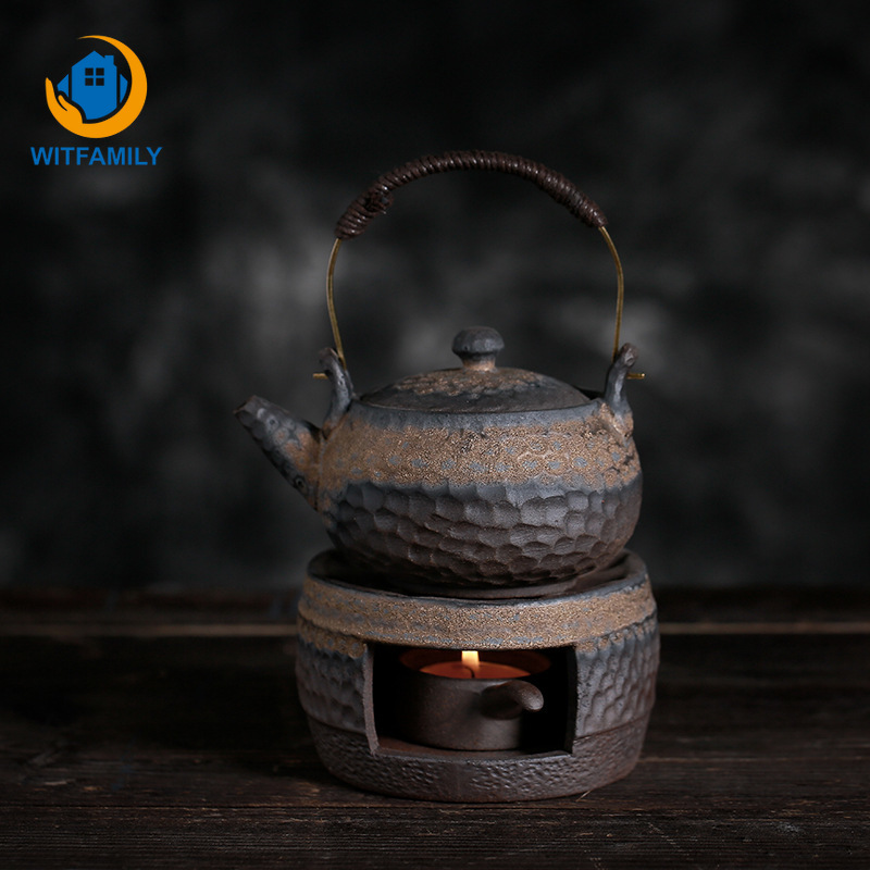 Warm Tea Stove Japanese Retro Tea Warmer Teapot Ceramic Kung Fu Tea Warming Coffee Milk Candle Heating Teaware Insulation Base