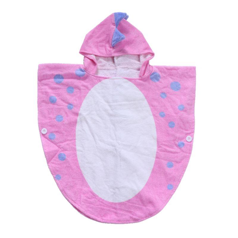 Детское банное полотенце с капюшоном и лапой динозавра; детское пляжное полотенце; купальный халат для младенцев - Цвет: Розовый
