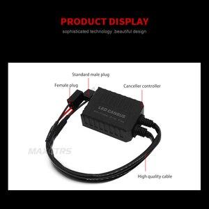 Image 4 - 2x H1 H3 H4 H7 H8 H11 9005 9006 H13 アダプタ EMC 警告 LED デコーダキャンセラーヘッドライトフォグライト IC エラーなし Bmw アウディ