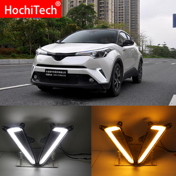 For Toyota C-HR CHR  2017 2018 2019 Turning Yellow Signal Style Relay Waterproof ABS Car DRL LED Daytime Running Light Daylight