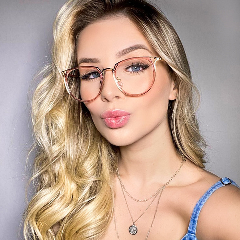 Fashion Sexy Glasses Frame Women New Luxury Brand Metal Frame Computer Women's Eyeglasses Vintage Optical Glasses