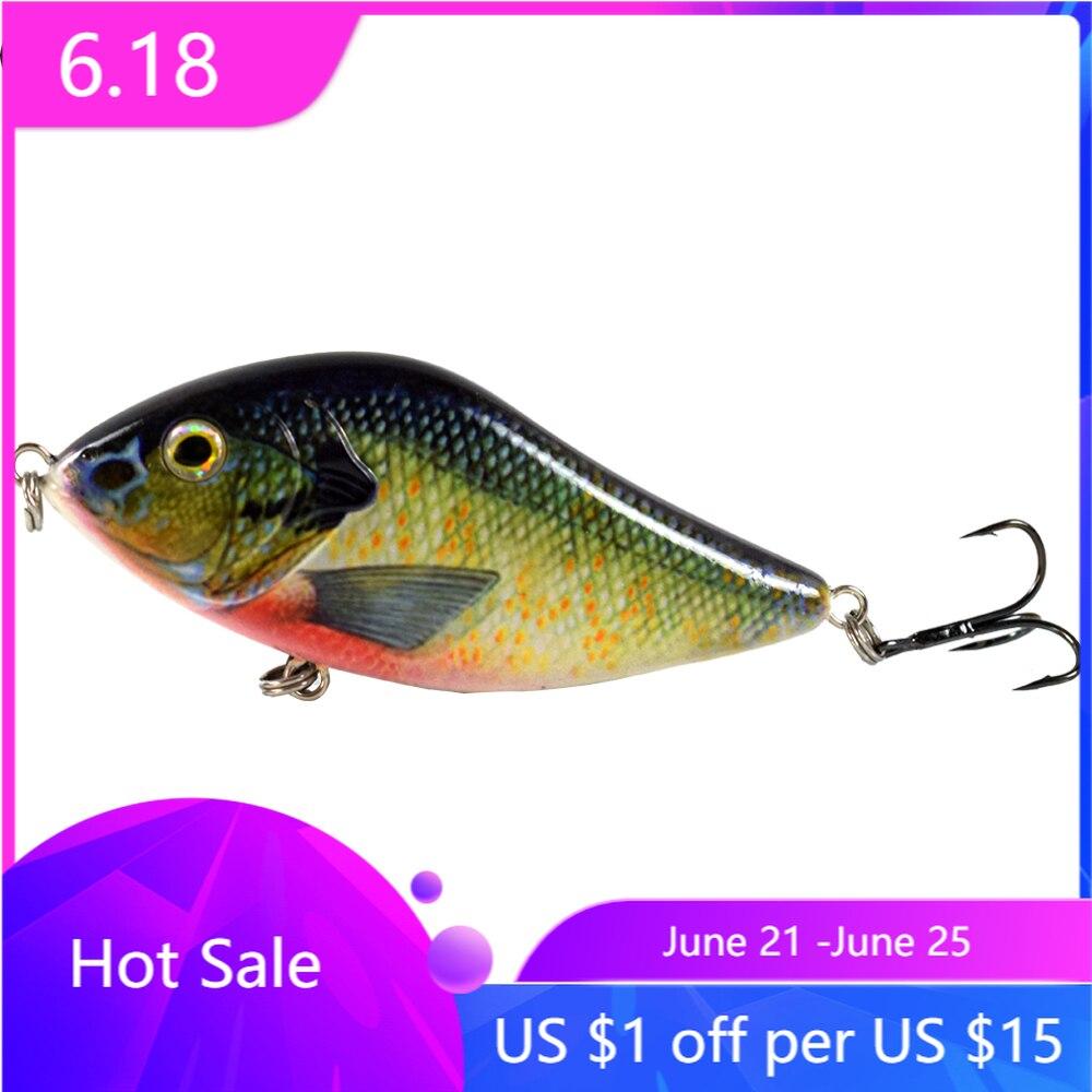 100MM 45G Slow Sinking Jerkbait Fishing Lure Slider Swim Action Hard Body Jerk Bait for Pike Musky Fishing