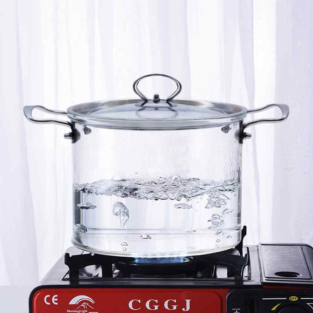 Cacerola de cristal con mango de madera comida para beb/és leche Cazo peque/ño Olla de cristal antiadherente resistente al calor Cazo para leche con boquilla para pasta de az/úcar sopas