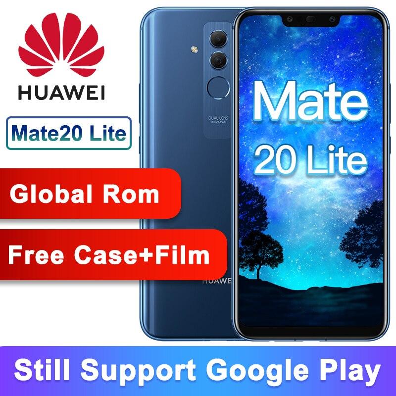 Rom globale originale Huawei Mate 20 Lite Maimang7 6G 64G 6.3 pouces téléphone Mobile Kirin 710 Octa Core 2340x1080 9 V/2A Charge rapide