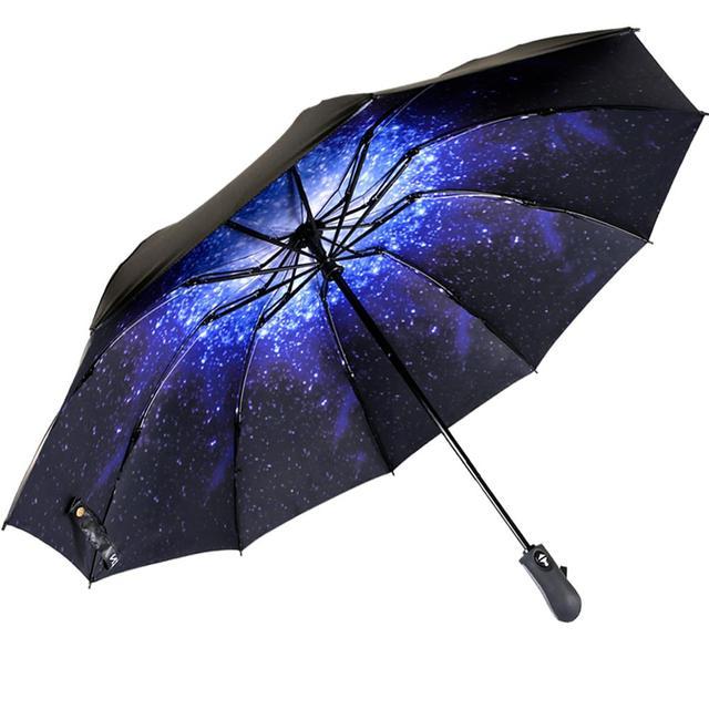 Inverted Umbrella Windproof Compact Umbrella Inside Out Reverse Umbrella Automatic Open and Close Rain Umbrella for Woman & Man
