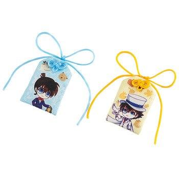 Bolsas de llavero creativas para mujer de Detective Conan Omamori, llavero con colgante del ladrón fantasma para mujer, Llaveros bordados