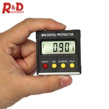 R & D 360 degrés Mini inclinomètre numérique magnétique niveau boîte jauge Angle mètre chercheur rapporteur Base outils de mesure