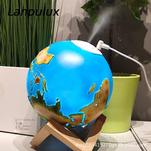 Lanpulux 3D Earth Humidifier Night Lights Air Purification Aromatherapy Mute Table Lamp USB Desktop Decor Ornament Lighting(China)