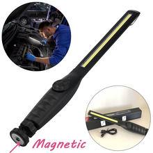 Protable Spotlight lampa do pracy wielofunkcyjny akumulator COB LED podłużne światło robocze lampa latarka Worklight Outdoor z USB