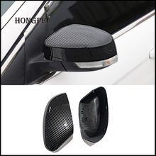 2 pieces For Ford Focus MK3 MK2 2012 2017 Mirror Covers Caps RearView Mirror Case Cover Carbon Look Cover Car Styling Auto Parts