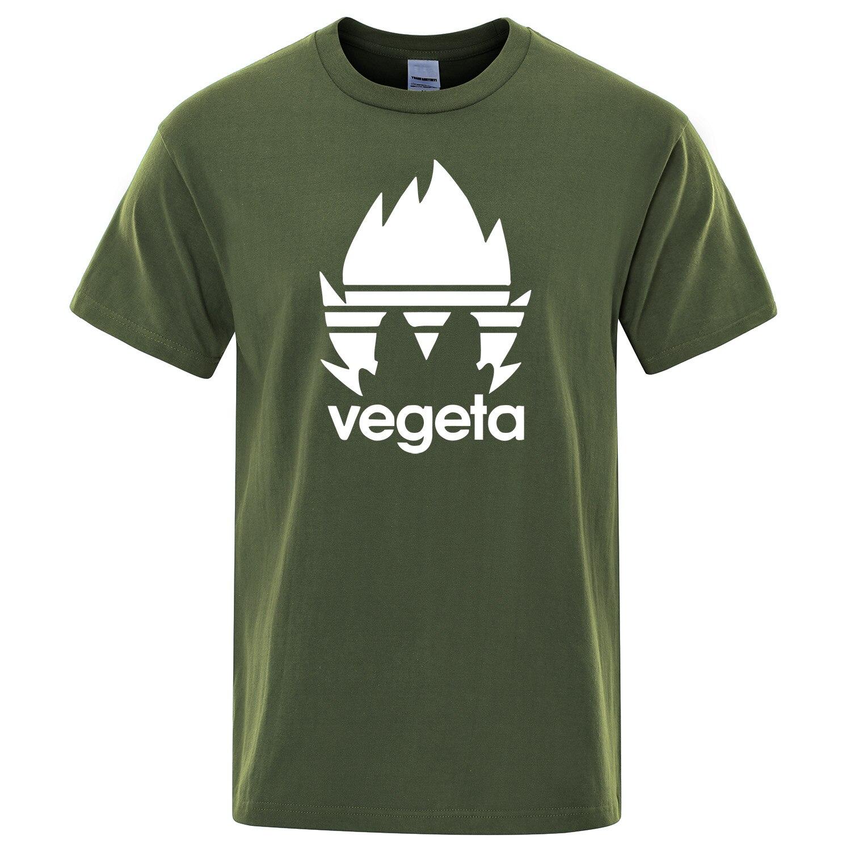 Dragon Ball Z T-shirts Men's Summer Cotton Print DragonBall Z Vegeta Casual T Shirt Men Tops Japanese Anime Streetwear Tee Shirt