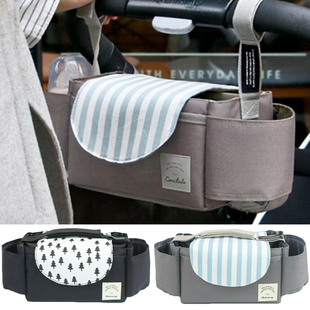 Universal Mommy Travel Bags Buggy Baby Pram Organizer Bottle Holder Baby Stroller Caddy Storage Bag