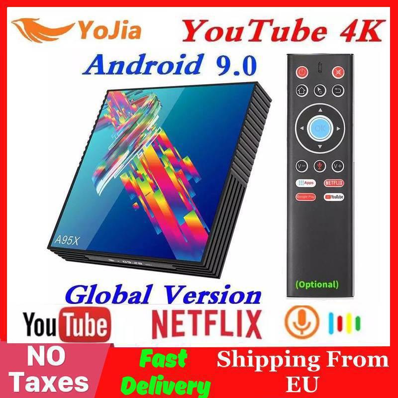 Rk3318 4 k smart tv caixa a95x r3 android 9.0 caixa de tv z2 4 gb ram 64 gb rom wifi netflix youtube 2g16g media player pk h96 max