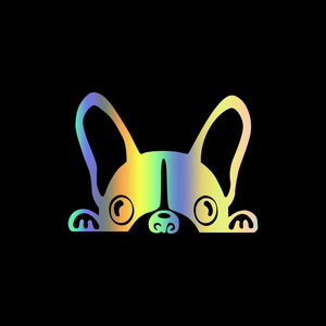 Image 3 - 10*7.5CM French Bulldog Car Sticker Decals Pet Dog Motorcycle Decorative Stickers Car Window Rearview Mirror Decals car styling