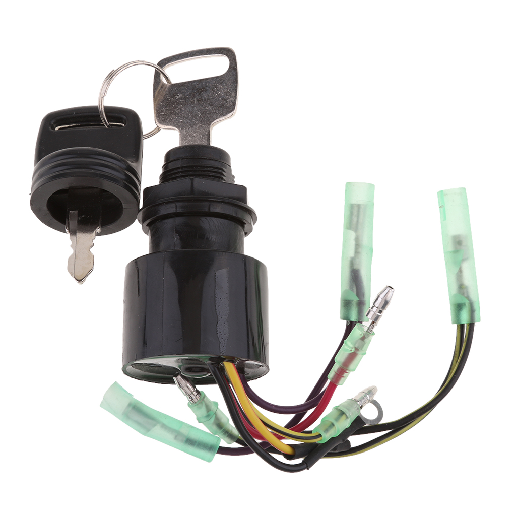 Ignition Switch Key Assembly 3 Position Off-Run-Start Replacement For Mercury Outboard Motor Control Box 87-17009A5
