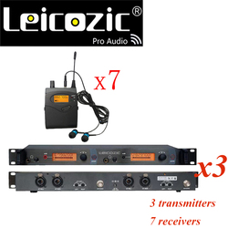 Leicozic SR2050 iem monitor BK2050 wireless monitoring system ear monitor systems with 7 receivers 3 transmitter top quality