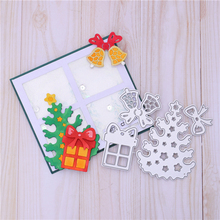 InLoveArts Christmas Tree Dies Bell Metal Cutting Dies Scrapbooking for Card Making DIY Embossing Cuts Craft Letter Dies inlovearts christmas dies tree metal cutting dies new 2019 for card making scrapbooking embossing album craft frame die cuts