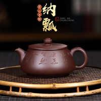 Sto wierzyć ciemnoczerwony emaliowane ceramiki czajniczek Yixing surowa ruda słynna pełna instrukcja obsługi piłka wewnętrzna ściana otworu Zhang Zi błoto