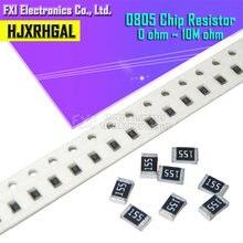 100 шт 0805 smd 1/4w 0r ~ 10 м резистор проволочного чипа 0