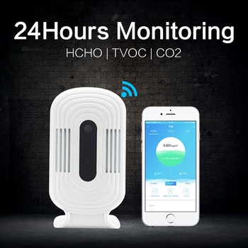 Intelligent WIFI Home HCHO TVOC CO2 Detector Air Quality Analysis Tester Detector Sensor Temperature Humidity Monitor JQ-200 digital air quality detector multifunctional co co2 hcho tvoc gas detector high accuracy monitor analyzer for home car factory