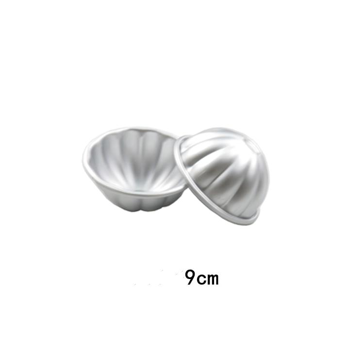 2pcs Conch Shape Aluminum Alloy Bath Bombs Mold Bath Salt Bomb Mold 3D Ball Sphere Shape DIY Bathing Tool Accessories Mold Tools